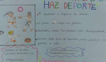 Carteles publicitarios creados por los alumnos de 6º